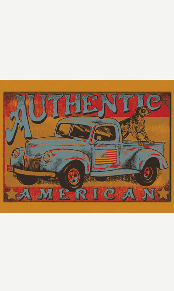 Authentic American on USA Made Men's Tee