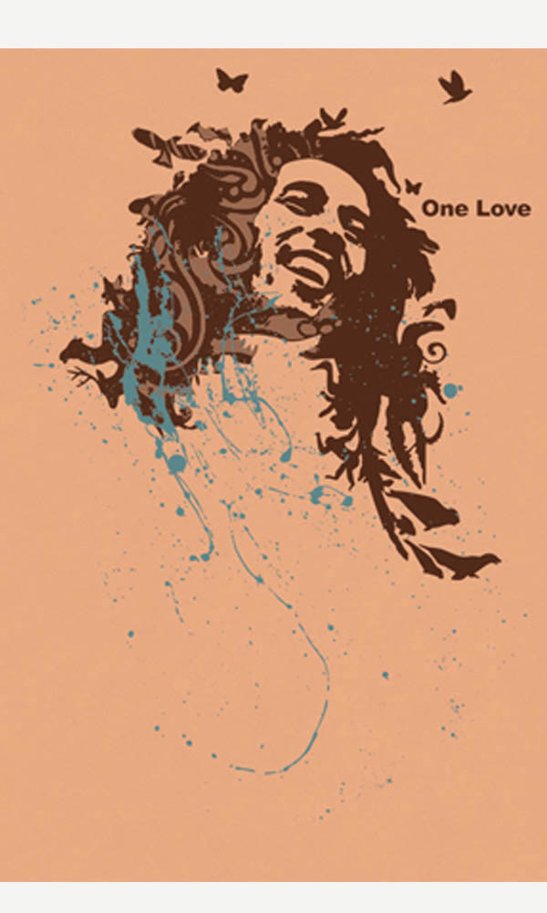 One Love on USA Made Men's Tee