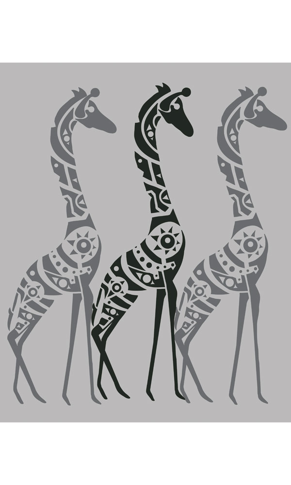 Giraffes on Organic Cotton Ladies Tee