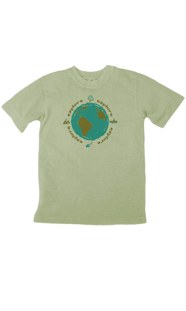 Explore on Toddler/Youth Organic Tee