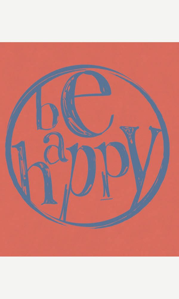 Be Happy on Toddler/Youth Organic Tee