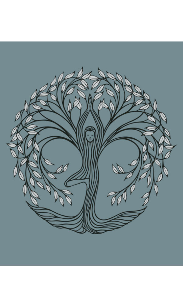 New Tree Pose on 3/4th Sleeve Women's Tee