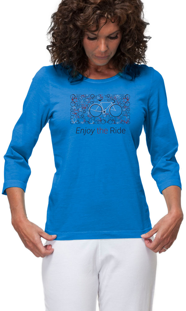 Enjoy the Ride on 3/4th Sleeve Ladies Tee