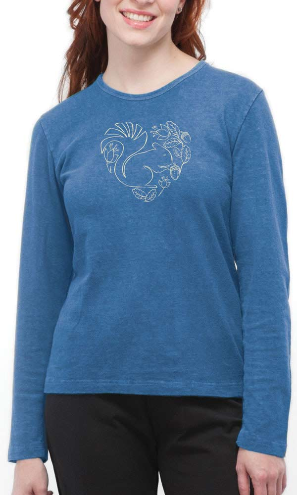 Squirrel Heart on Ladies Long Sleeve Tee