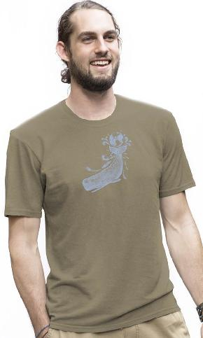 Earth Whale on Organic Tee