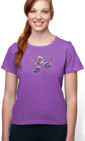 Wish on a Dandelion on Organic Cotton Ladies Tee