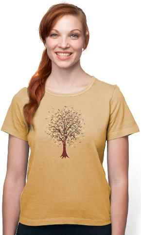 Tree Confetti on Organic Cotton Ladies Tee