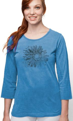 Daisy Diary on 3/4 Sleeve Ladies Tee