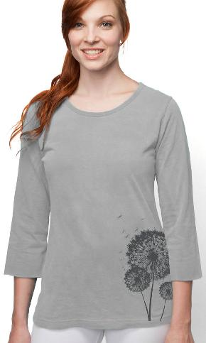 Three Wishes on 3/4 Sleeve Ladies Tee