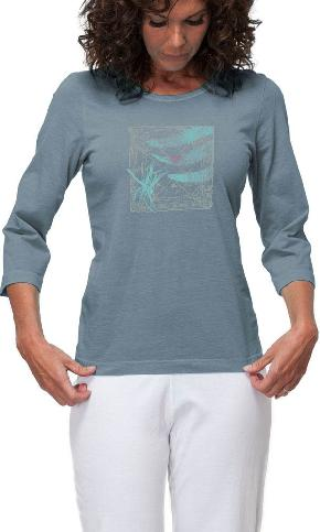 Dragonfly Tile on 3/4th Sleeve Ladies Tee